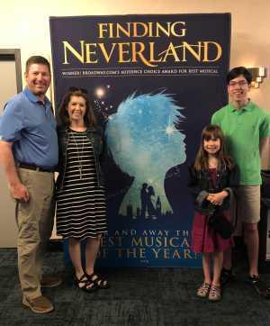 Patrick attended Finding Neverland on Jun 18th 2019 via VetTix