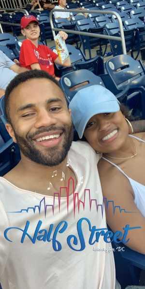 Alexia attended Washington Nationals vs. Cincinnati Reds - MLB on Aug 14th 2019 via VetTix