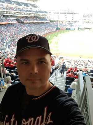 Christopher attended Washington Nationals vs. Cincinnati Reds - MLB on Aug 14th 2019 via VetTix