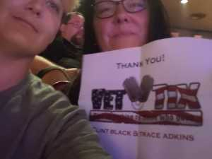 Danielle attended Clint Black and Trace Adkins Hits. Hats. History - Country on Jun 8th 2019 via VetTix