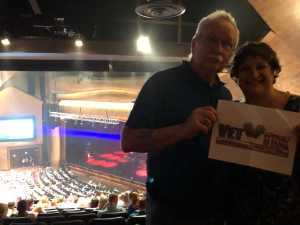 Bill & Valerie attended Clint Black and Trace Adkins Hits. Hats. History - Country on Jun 8th 2019 via VetTix