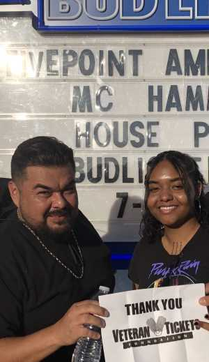 Raymond attended Hammer's House Party - Pop on Jul 13th 2019 via VetTix