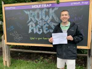 Justin attended Rock of Ages: 10th Anniversary Tour - Tuesday on Jun 18th 2019 via VetTix