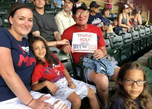 Laurence attended Minnesota Twins vs. Texas Rangers - MLB on Jul 5th 2019 via VetTix