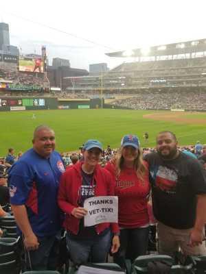 EMILY attended Minnesota Twins vs. Texas Rangers - MLB on Jul 5th 2019 via VetTix