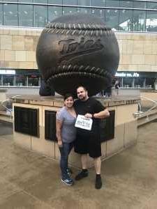 Josue attended Minnesota Twins vs. Texas Rangers - MLB on Jul 5th 2019 via VetTix