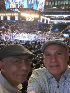 Efrain attended World Championship Boxing: Gennadiy 'ggg' Golovkin vs. Steve Rolls - Boxing on Jun 8th 2019 via VetTix