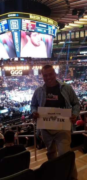 Angel attended World Championship Boxing: Gennadiy 'ggg' Golovkin vs. Steve Rolls - Boxing on Jun 8th 2019 via VetTix