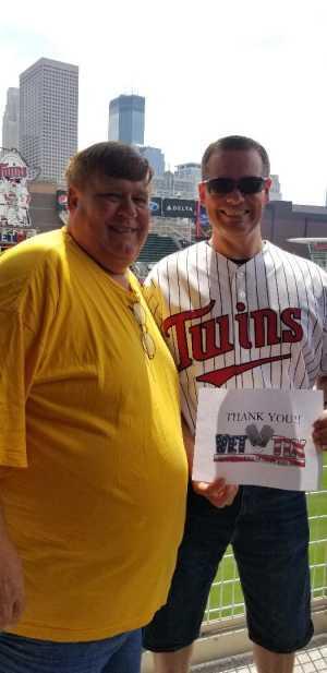 Kevin attended Minnesota Twins vs Texas Rangers - MLB on Jul 7th 2019 via VetTix