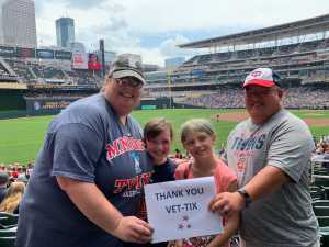 John attended Minnesota Twins vs Texas Rangers - MLB on Jul 7th 2019 via VetTix