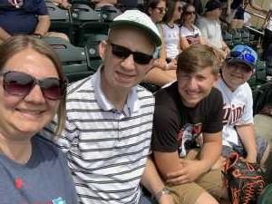 Chelby  attended Minnesota Twins vs Texas Rangers - MLB on Jul 7th 2019 via VetTix