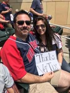 Rodny attended Minnesota Twins vs Texas Rangers - MLB on Jul 7th 2019 via VetTix