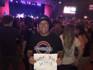 Frederick attended The Marquee Theatre Presents - the Offspring 13+ on Jun 10th 2019 via VetTix