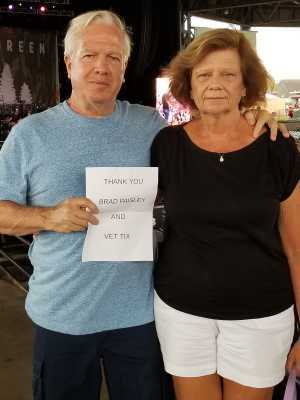 michael attended Brad Paisley Tour 2019 - Country on Jun 28th 2019 via VetTix