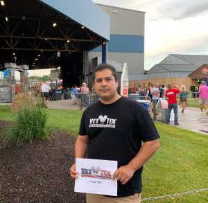 Conrad attended Brad Paisley Tour 2019 - Country on Jun 28th 2019 via VetTix