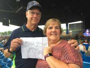 Brian and Kelly attended Brad Paisley Tour 2019 - Country on Jun 28th 2019 via VetTix