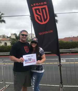 Russell attended San Diego Legion vs Seattle Seawolves - MLR on Jun 16th 2019 via VetTix
