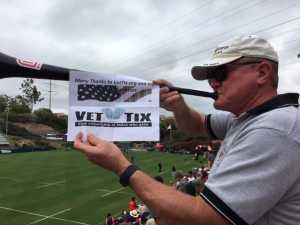 Thomas Navy LDO attended San Diego Legion vs Seattle Seawolves - MLR on Jun 16th 2019 via VetTix