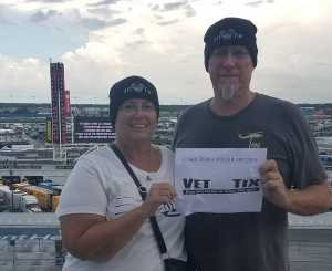 Kevin attended Coke Zero Sugar 400 - Monster Energy NASCAR Cup Series on Jul 6th 2019 via VetTix