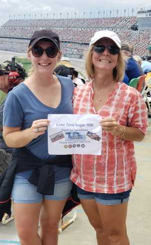 Nancy attended Coke Zero Sugar 400 - Monster Energy NASCAR Cup Series on Jul 6th 2019 via VetTix
