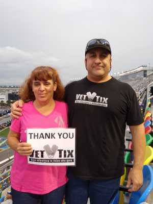 Rob attended Coke Zero Sugar 400 - KB100 - Kurt Busch Fan Appreciation Tickets on Jul 6th 2019 via VetTix