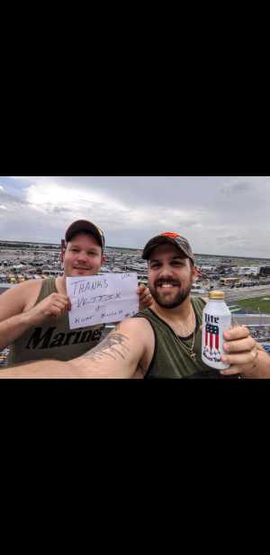 Donald attended Coke Zero Sugar 400 - KB100 - Kurt Busch Fan Appreciation Tickets on Jul 6th 2019 via VetTix