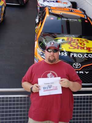 Larry attended Coke Zero Sugar 400 - KB100 - Kurt Busch Fan Appreciation Tickets on Jul 6th 2019 via VetTix