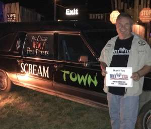 Daniel attended Scream Town - Good for Saturday Sept. 28th Only on Sep 28th 2019 via VetTix