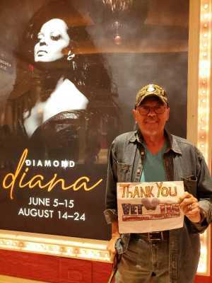 egon attended Diamond Diana - R&b on Jun 14th 2019 via VetTix