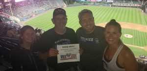 Michael attended Colorado Rockies vs. Cincinnati Reds - MLB on Jul 12th 2019 via VetTix