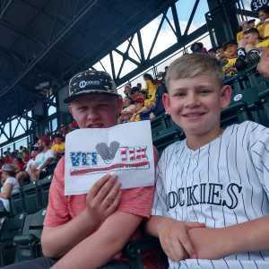 James attended Colorado Rockies vs. San Francisco Giants - MLB on Jul 17th 2019 via VetTix