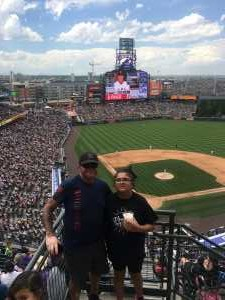 David attended Colorado Rockies vs. San Francisco Giants - MLB on Jul 17th 2019 via VetTix