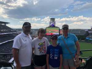 Christopher attended Colorado Rockies vs. San Francisco Giants - MLB on Jul 17th 2019 via VetTix