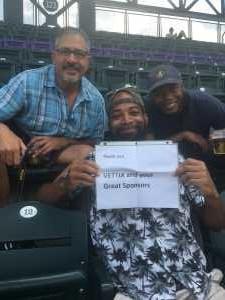 Henry attended Colorado Rockies vs. San Francisco Giants - MLB on Jul 17th 2019 via VetTix