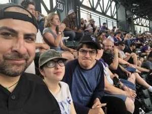 Fortunato attended Colorado Rockies vs. San Francisco Giants - MLB on Jul 17th 2019 via VetTix