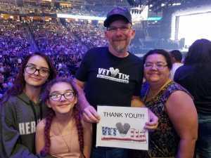 Barton attended Jennifer Lopez - Wednesday Night on Jun 19th 2019 via VetTix