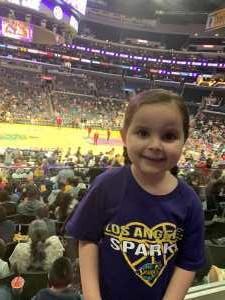 Kristin attended Los Angeles Sparks vs. Las Vegas Aces - WNBA on Jun 27th 2019 via VetTix