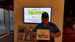 Greg attended Shrek - The Musical: Preview Night at the MCC Performing Arts Center on Jul 18th 2019 via VetTix