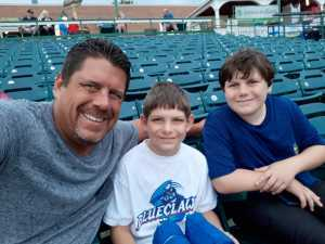 Walter attended Lakewood BlueClaws vs. Hickory Crawdads - MiLB - Vets Night Out on Jul 11th 2019 via VetTix
