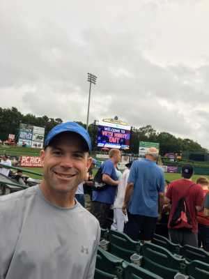 Peter attended Lakewood BlueClaws vs. Hickory Crawdads - MiLB - Vets Night Out on Jul 11th 2019 via VetTix