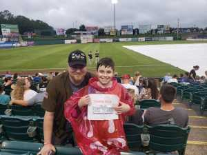 Wayne attended Lakewood BlueClaws vs. Hickory Crawdads - MiLB - Vets Night Out on Jul 11th 2019 via VetTix
