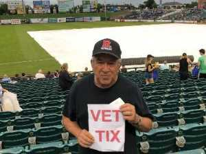 Richard attended Lakewood BlueClaws vs. Hickory Crawdads - MiLB - Vets Night Out on Jul 11th 2019 via VetTix