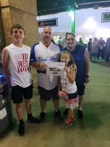 Ron attended Lakewood BlueClaws vs. Hickory Crawdads - MiLB - Vets Night Out on Jul 11th 2019 via VetTix