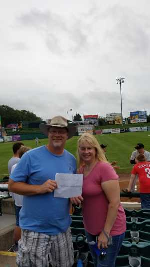 Bruce attended Lakewood BlueClaws vs. Hickory Crawdads - MiLB - Vets Night Out on Jul 11th 2019 via VetTix