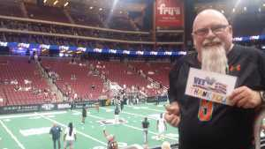 Noel attended Arizona Rattlers V. Opponent TBD - IFL - 2019 Conference Championship **played at Gila River Arena on Jun 29th 2019 via VetTix