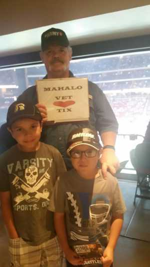 Art attended Arizona Rattlers V. Opponent TBD - IFL - 2019 Conference Championship **played at Gila River Arena on Jun 29th 2019 via VetTix