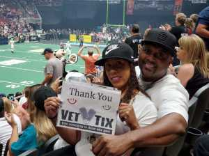 Jovelle attended Arizona Rattlers V. Opponent TBD - IFL - 2019 Conference Championship **played at Gila River Arena on Jun 29th 2019 via VetTix