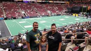 Kenneth attended Arizona Rattlers V. Opponent TBD - IFL - 2019 Conference Championship **played at Gila River Arena on Jun 29th 2019 via VetTix