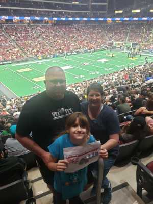 Doyle attended Arizona Rattlers V. Opponent TBD - IFL - 2019 Conference Championship **played at Gila River Arena on Jun 29th 2019 via VetTix
