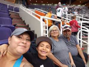 Monica attended Arizona Rattlers V. Opponent TBD - IFL - 2019 Conference Championship **played at Gila River Arena on Jun 29th 2019 via VetTix